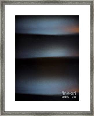 Rolling Waves Abstract Framed Print by James Aiken