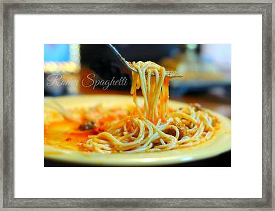Roma Spaghetti Framed Print by Diana Angstadt