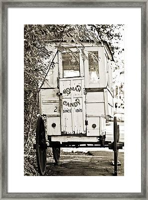 Roman Candy Cart Framed Print by Scott Pellegrin