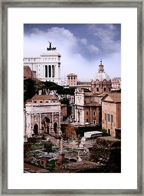 Roman Forum Framed Print by Warren Home Decor