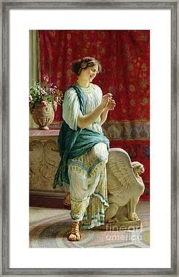 Roman Girl Framed Print by Guglielmo Zocchi