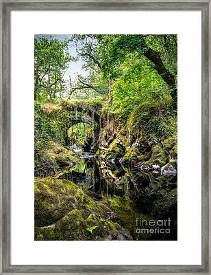 Roman Packhorse Bridge Framed Print by Adrian Evans