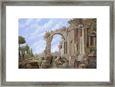 Roman Ruins Framed Print by Guido Borelli