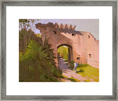 Roman Ruins Framed Print by Todd Baxter