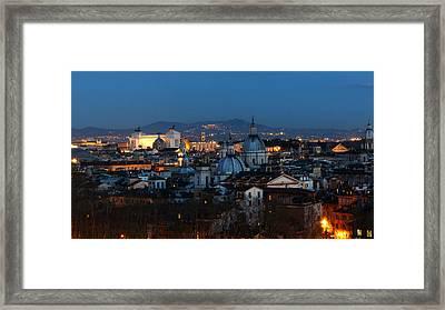 Roman Skyline Framed Print by Giorgio Lumaconi