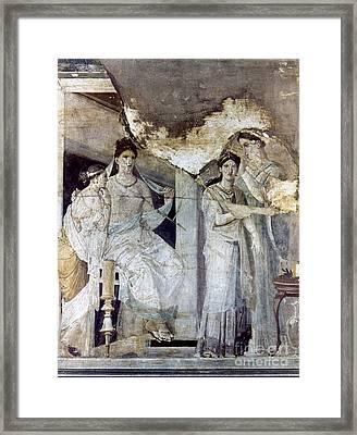 Roman Toilette Scene Framed Print by Granger