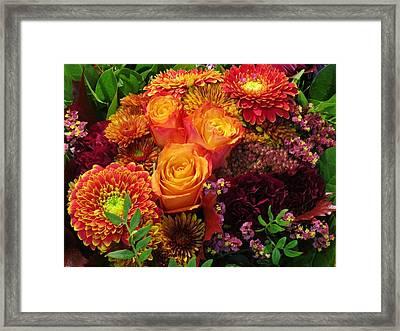 Romance Of Autumn Framed Print by Rosita Larsson
