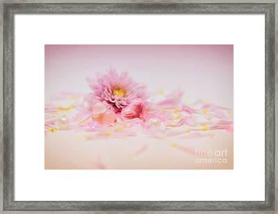 Romance With Hearts Framed Print by SK Pfphotography