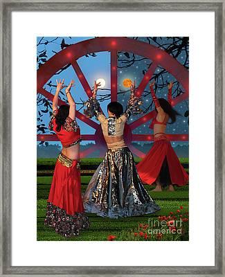 Romani Dance Framed Print by Mira Ostojic
