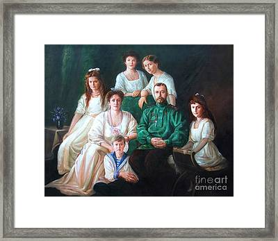 Romanov Family Portrait Framed Print by George Alexander