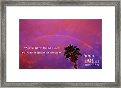 Romans 4 Framed Print by Robert Bales