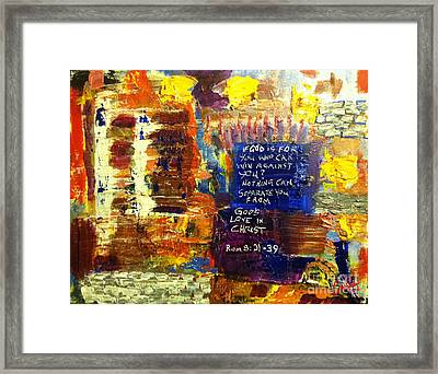 Romans Eight Thirtyone To Thirtynine Framed Print by Charlie Harris