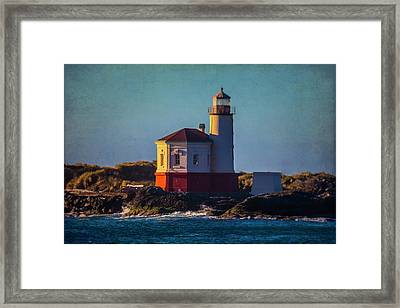 Romantic Coquille River Lighthouse Framed Print by Garry Gay