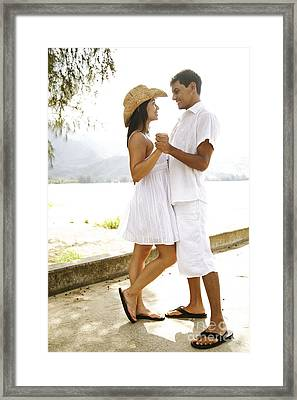 Romantic Couple In White Framed Print by Kicka Witte - Printscapes