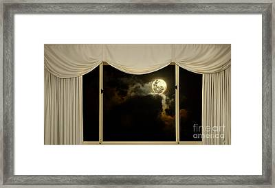 Romantic Evening At Home By Kaye Menner Framed Print by Kaye Menner