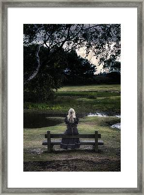 Romantic Evening At The Pond Framed Print by Joana Kruse