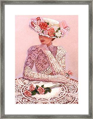 Romantic Lady Framed Print by Sue Halstenberg
