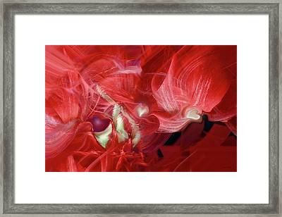 Romantic Love Framed Print by Linda Sannuti