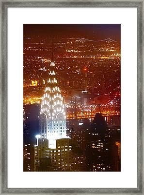 Romantic Manhattan Framed Print by Az Jackson