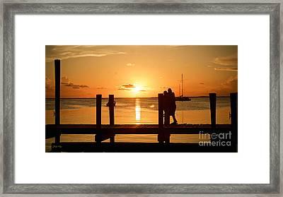 Romantic Sunset Framed Print by Judy Kay