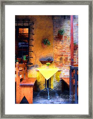 Romantic Table For Two  Framed Print by Mel Steinhauer