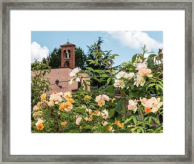 Rome Bell Tower From Roses Garden Framed Print by Daniele Chiarottini
