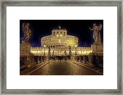 Rome Castel Sant Angelo Framed Print by Joana Kruse