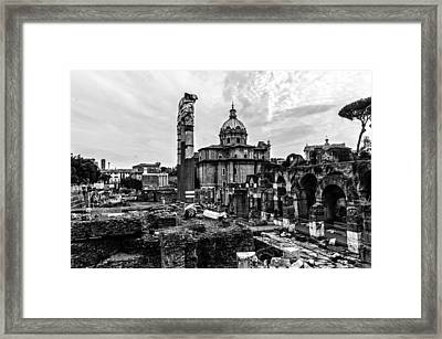 Rome - Details From The Imperial Forums 2 Framed Print by Andrea Mazzocchetti