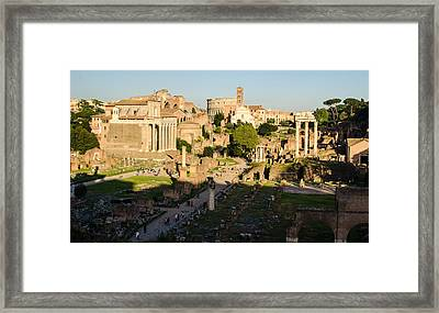 Rome - Imperial Forums Framed Print by Andrea Mazzocchetti