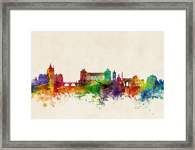 Rome Italy Skyline Framed Print by Michael Tompsett