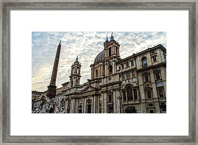 Rome - Piazza Navona - A View 2  Framed Print by Andrea Mazzocchetti