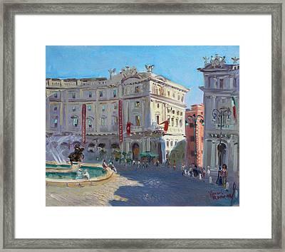 Rome Piazza Republica Framed Print by Ylli Haruni