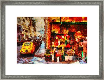 Rome Street Colors Framed Print by Stefano Senise
