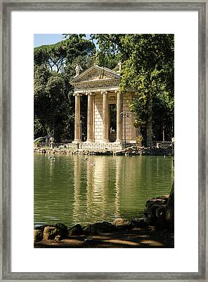 Rome - Temple Of Aesculapius 2 Framed Print by Andrea Mazzocchetti