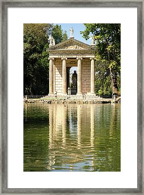 Rome - Temple Of Aesculapius Framed Print by Andrea Mazzocchetti