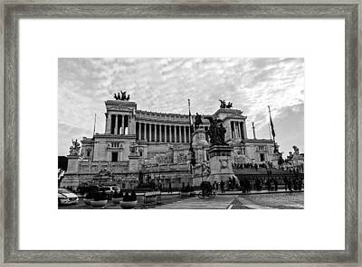 Rome - The Altar Of The Fatherland Framed Print by Andrea Mazzocchetti