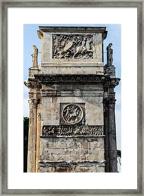 Rome - The Arch Of Constantine 4 Framed Print by Andrea Mazzocchetti