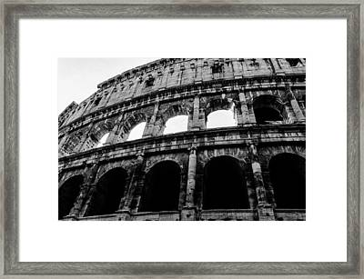 Rome - The Colosseum Bw Framed Print by Andrea Mazzocchetti