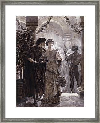 Romeo And Juliet Framed Print by Frank Dicksee