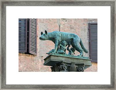 Romulus, Remus And Wolf, Italy Framed Print by Ken Welsh