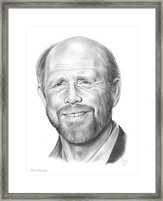 Ron Howard Framed Print by Greg Joens