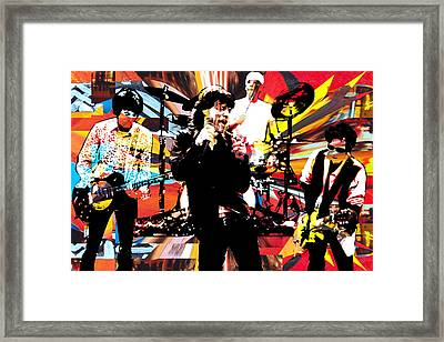 Ron Mick Charlie Keith Framed Print by Kevin Newton