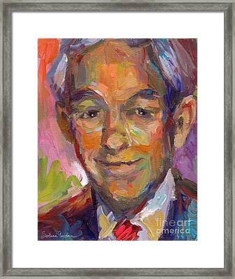Ron Paul Art Impressionistic Painting  Framed Print by Svetlana Novikova