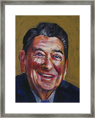 Ronald Reagan Framed Print by Buffalo Bonker