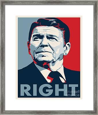 Ronald Reagan Framed Print by John L