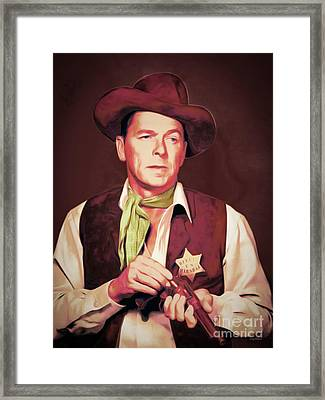 Ronald Reagan The New Marshal Is In Town 20151229 Framed Print by Wingsdomain Art and Photography
