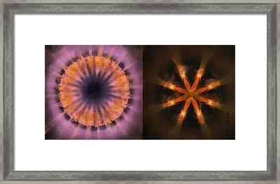Ronde Scheme Flower  Id 16165-220139-79520 Framed Print by S Lurk
