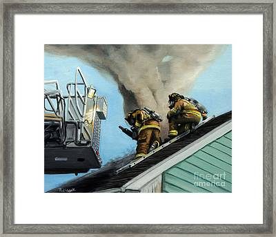 Roof Is Open Framed Print by Paul Walsh
