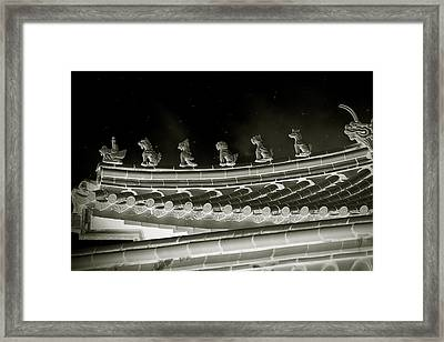 Roof National Palace Museum Taiwan City - Taipei  Framed Print by Christine Till