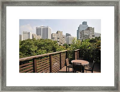 Roof Terrace Above Rappongi Tokyo Japan Framed Print by Andy Smy